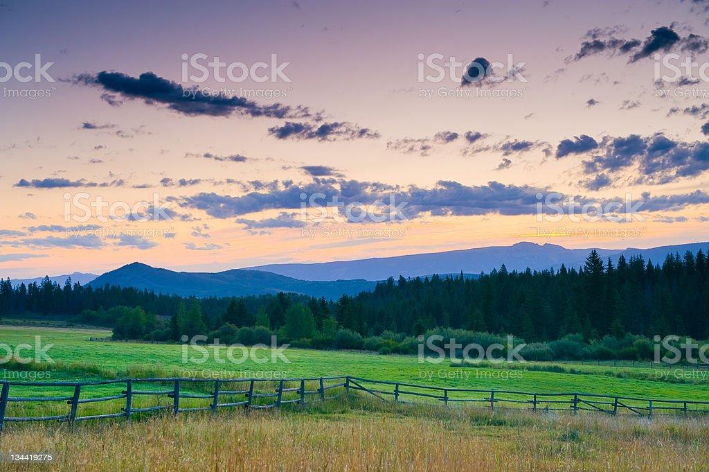 Scenic Rural Idyllic Setting at Sunrise royalty-free stock photo