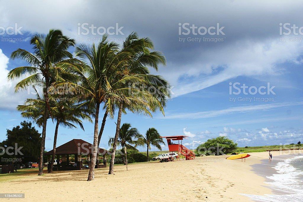 Scenic Salt Pond Beach in Kauai, Hawaii stock photo