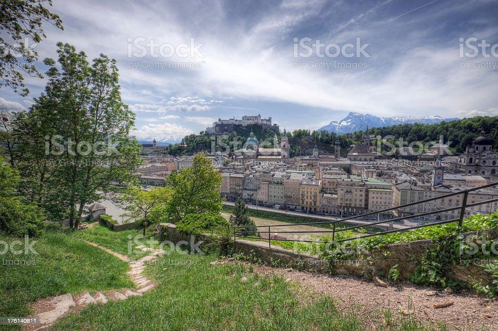 Scenic Salzburg stock photo