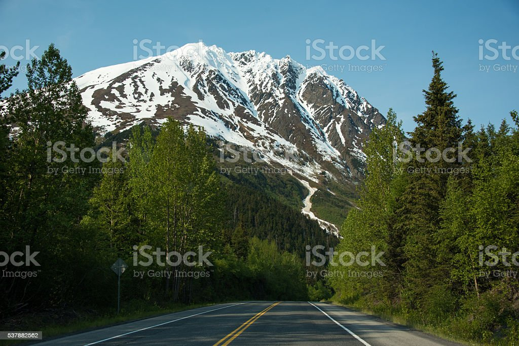 Scenic Seward Highway in Alaska stock photo