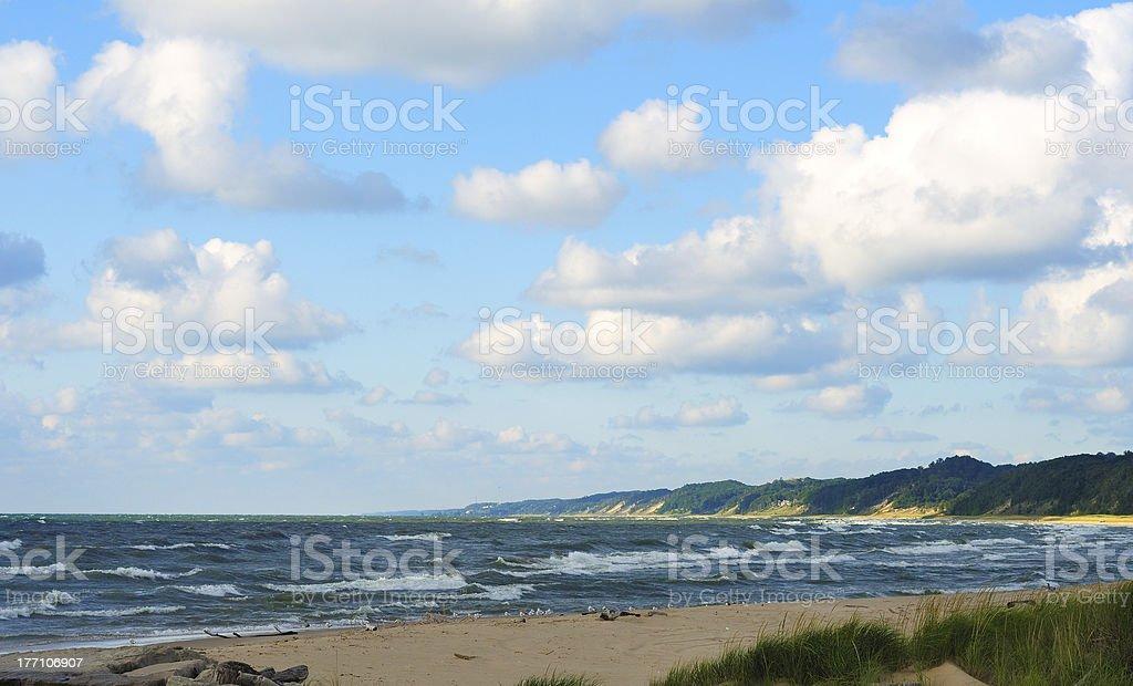 Scenic shoreline stock photo