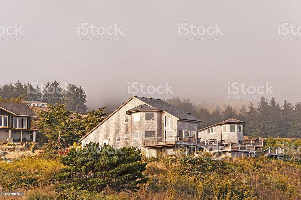 Scenic Shot Of Home With Ocean View royalty-free stock photo