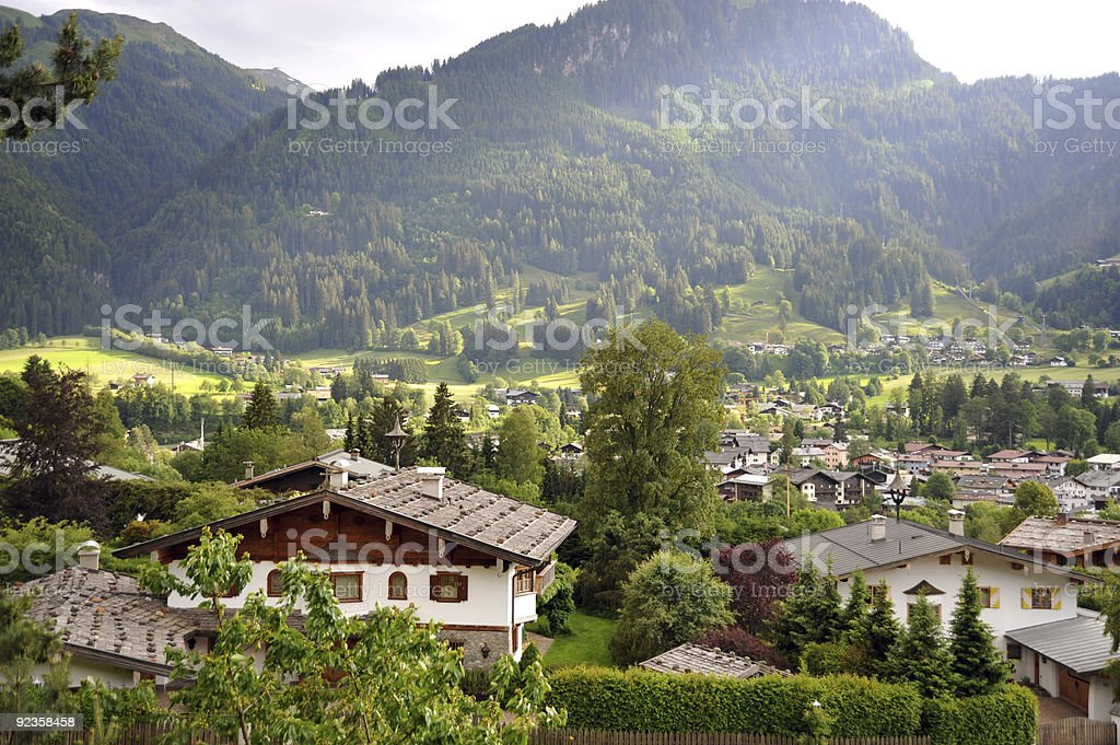 Scenic shot of Kitzbuehel, Austria stock photo