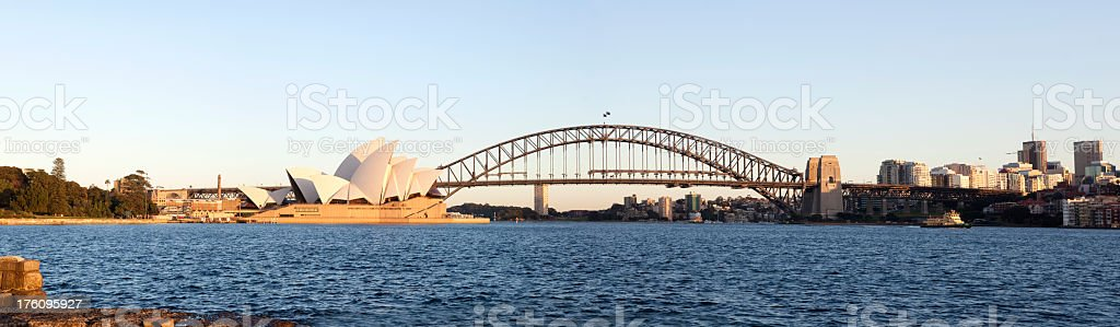 Scenic shot of Sydney harbor with the opera house in sight royalty-free stock photo