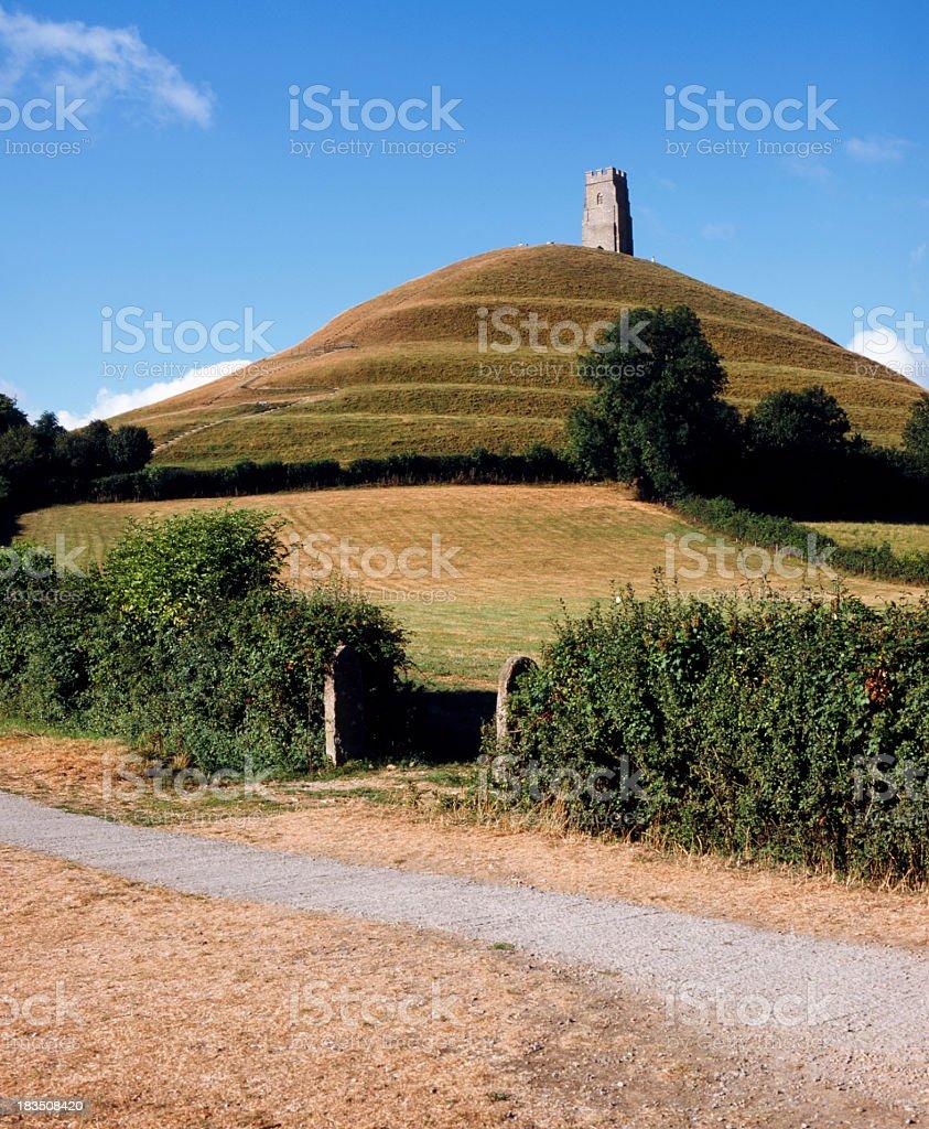 Scenic Somerset - Glastonbury Tor stock photo