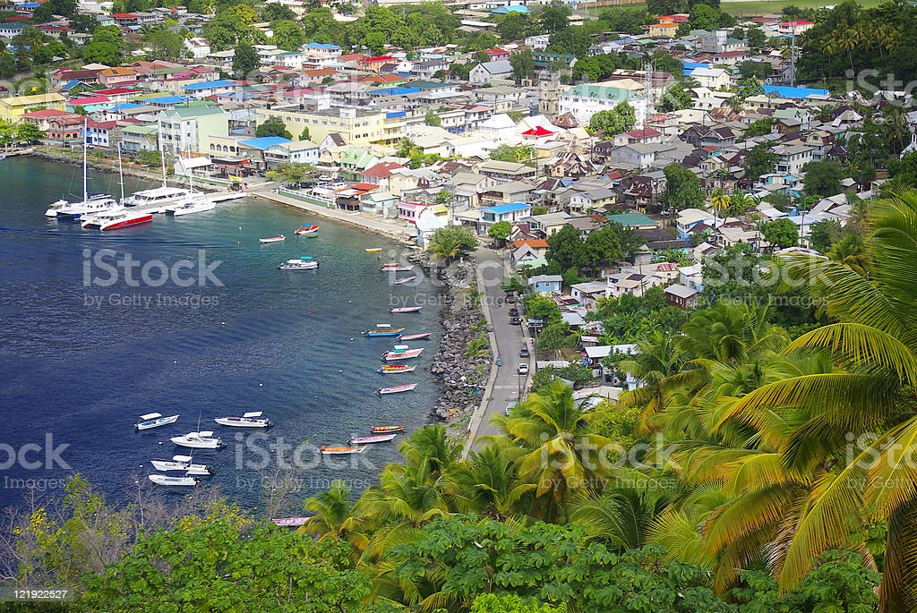 scenic soufriere town st lucia royalty-free stock photo