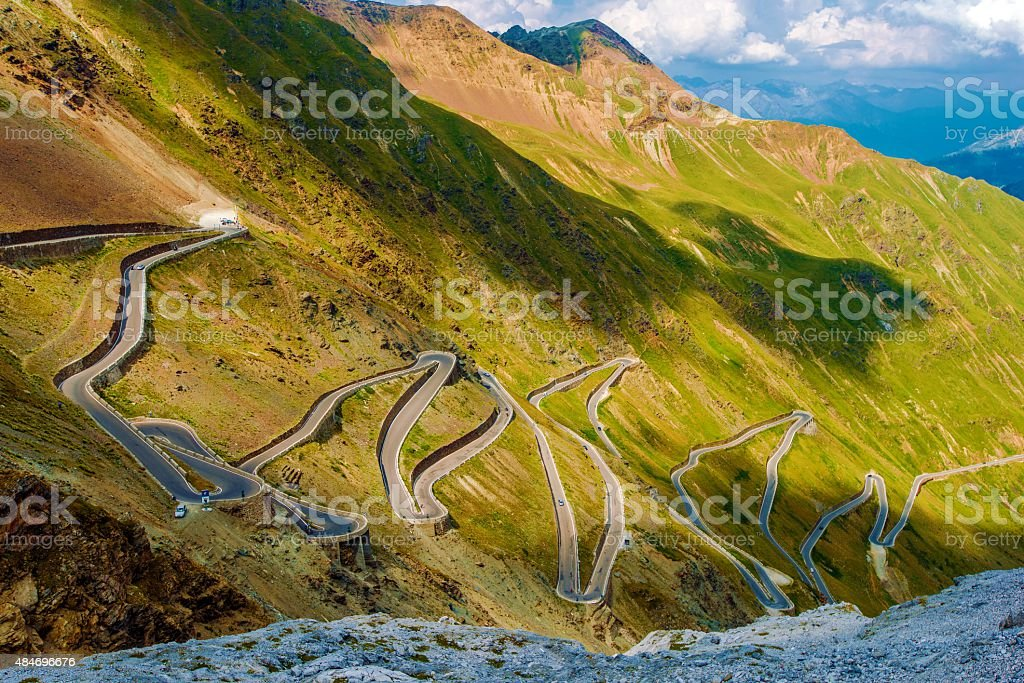 Scenic Stelvio Pass stock photo