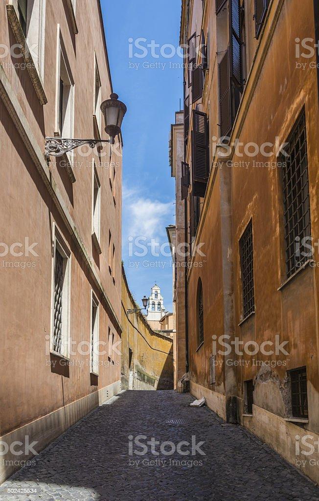 Scenic street in Rome stock photo