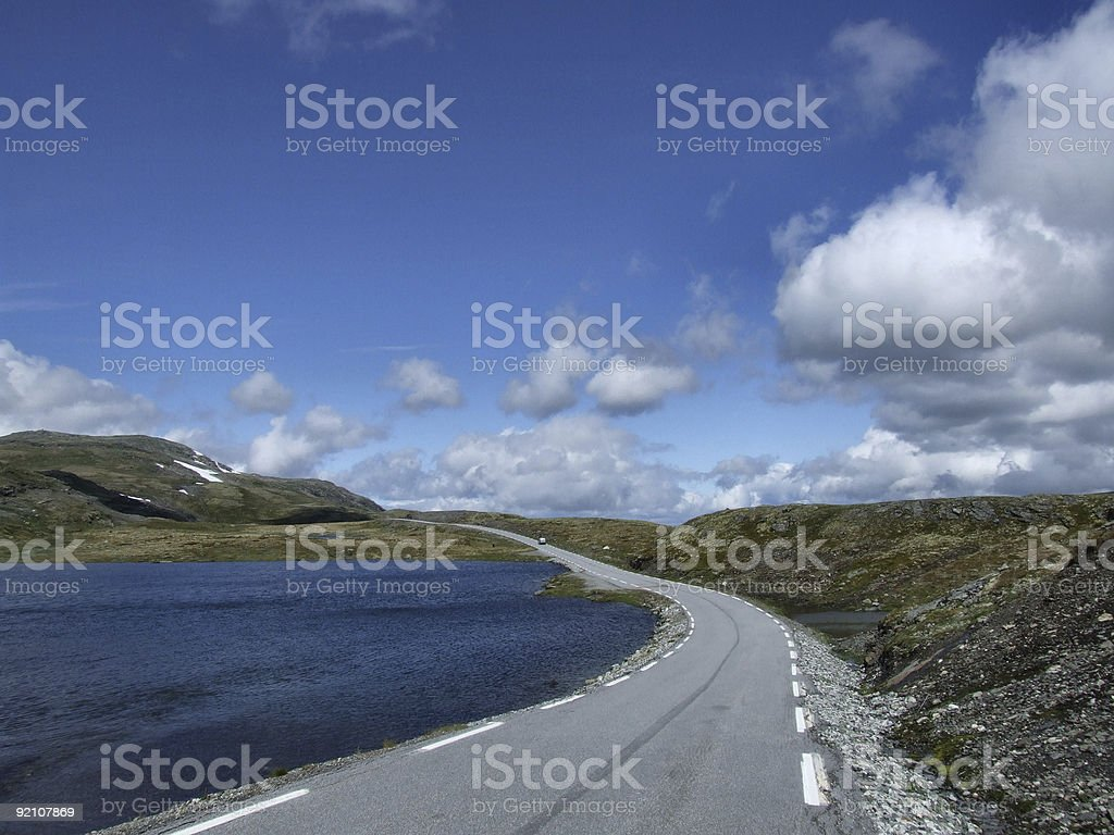 Scenic summer road in Norway royalty-free stock photo