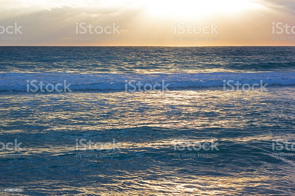 Scenic sunrise in Miami Beach, Florida. stock photo