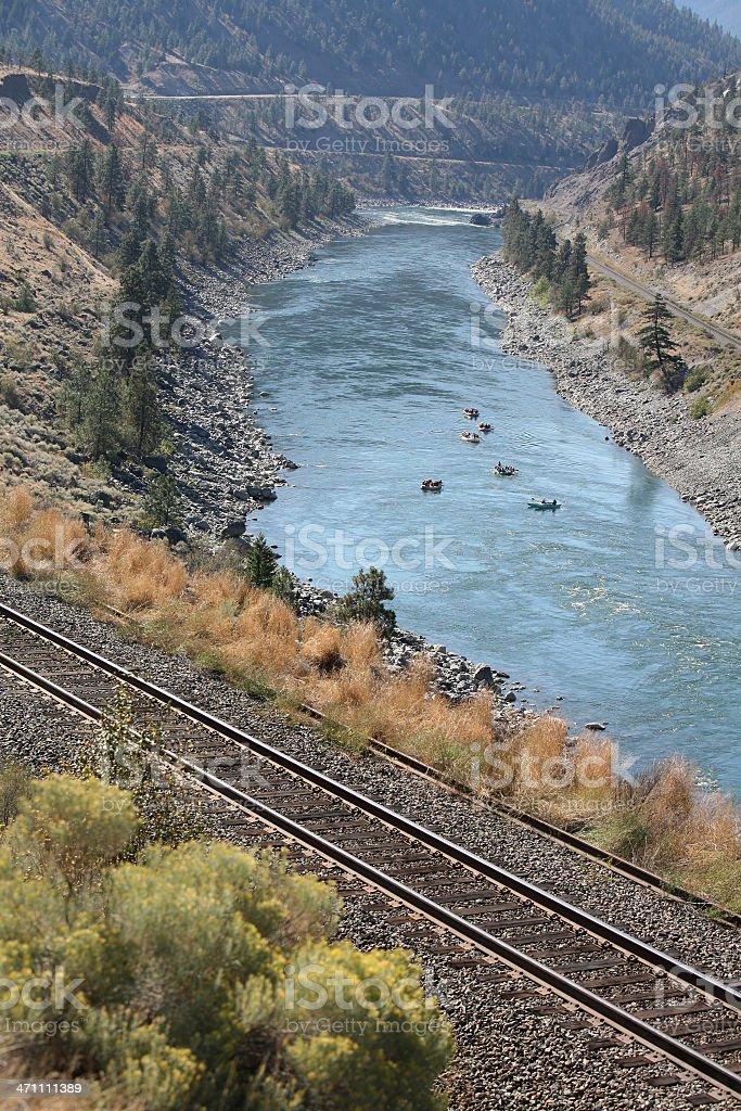 Scenic Thompson River British Columbia royalty-free stock photo
