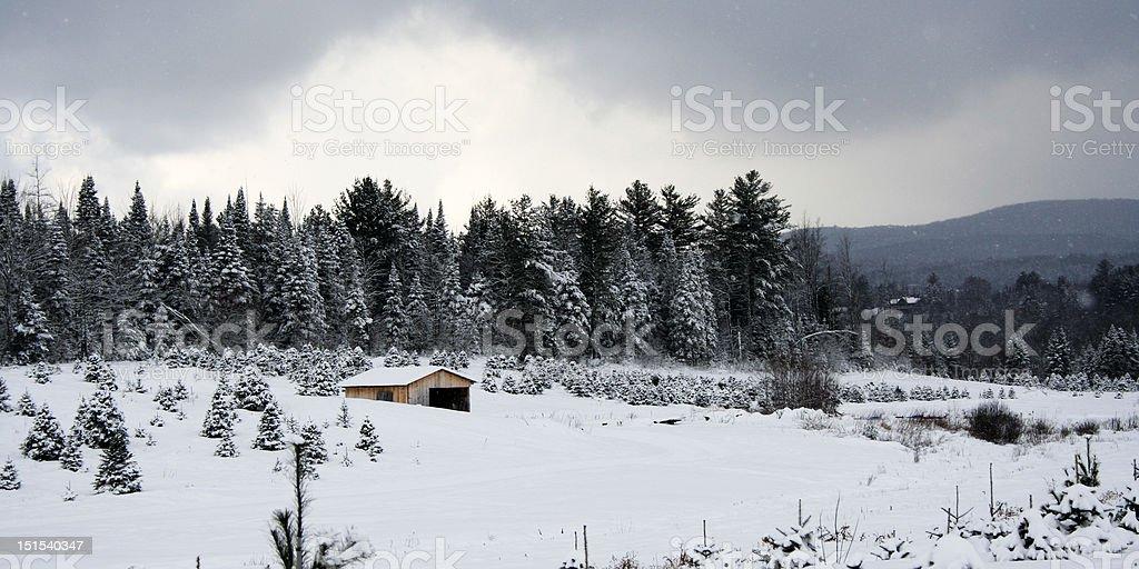 Scenic Vermont Winter stock photo