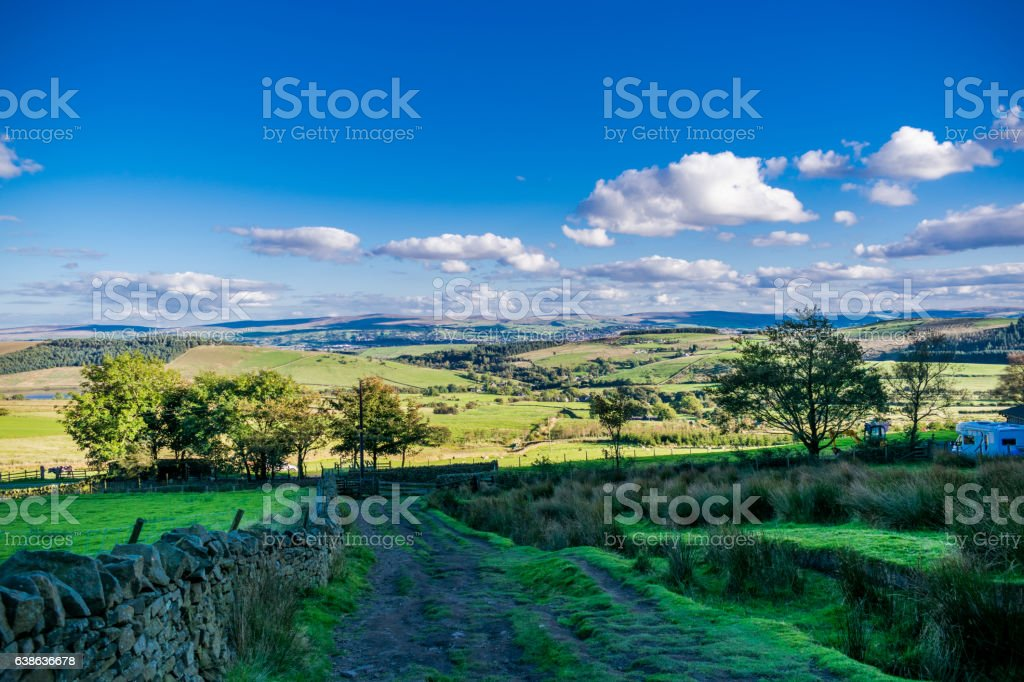 Scenic View At Forest Of Bowland stock photo