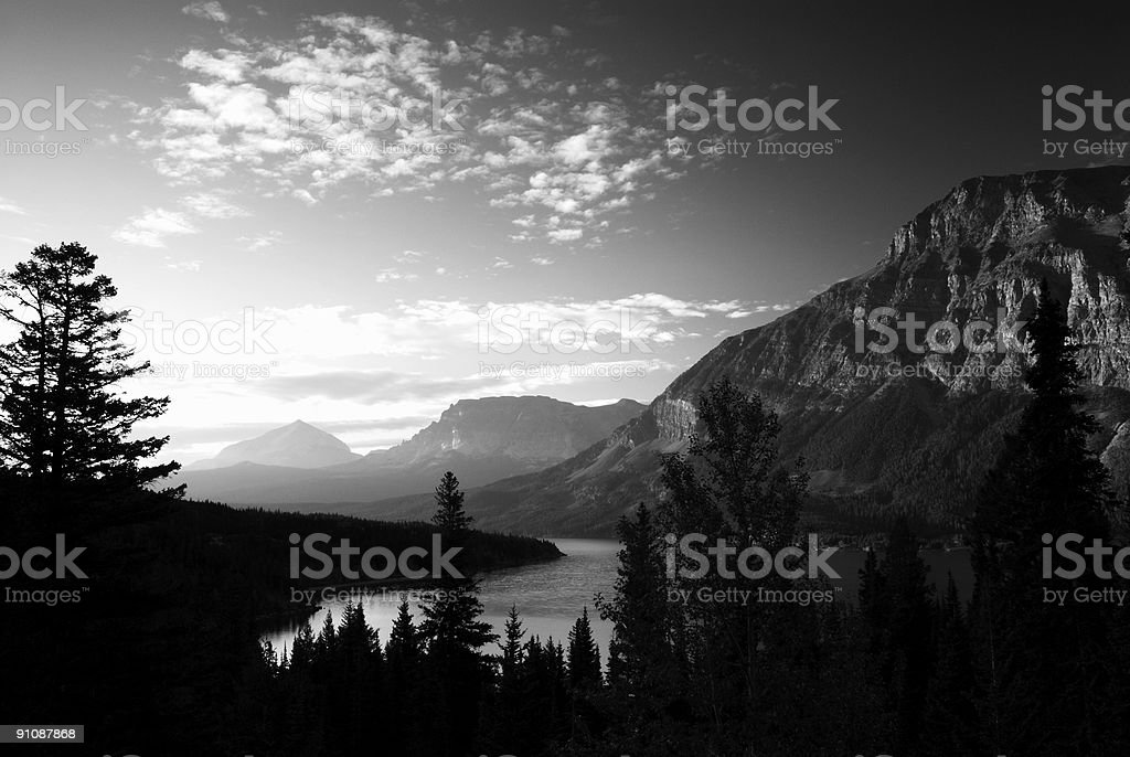 Scenic View at Glacier National Park royalty-free stock photo