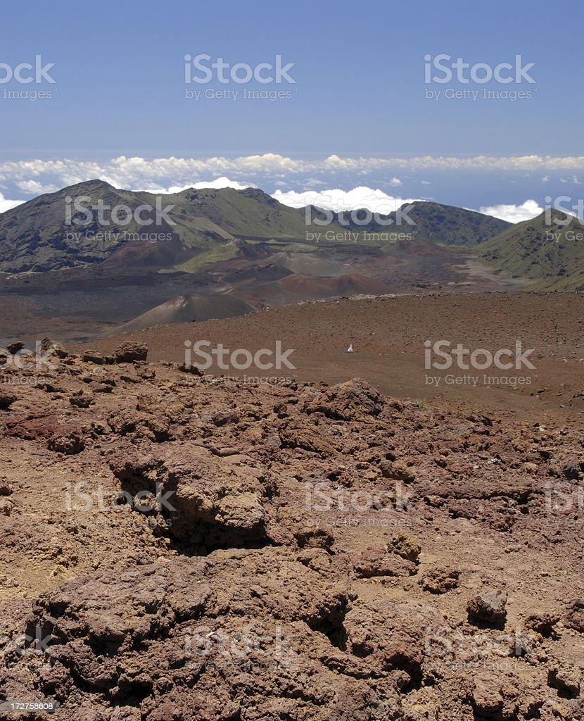 Scenic View at Haleakala National Park royalty-free stock photo