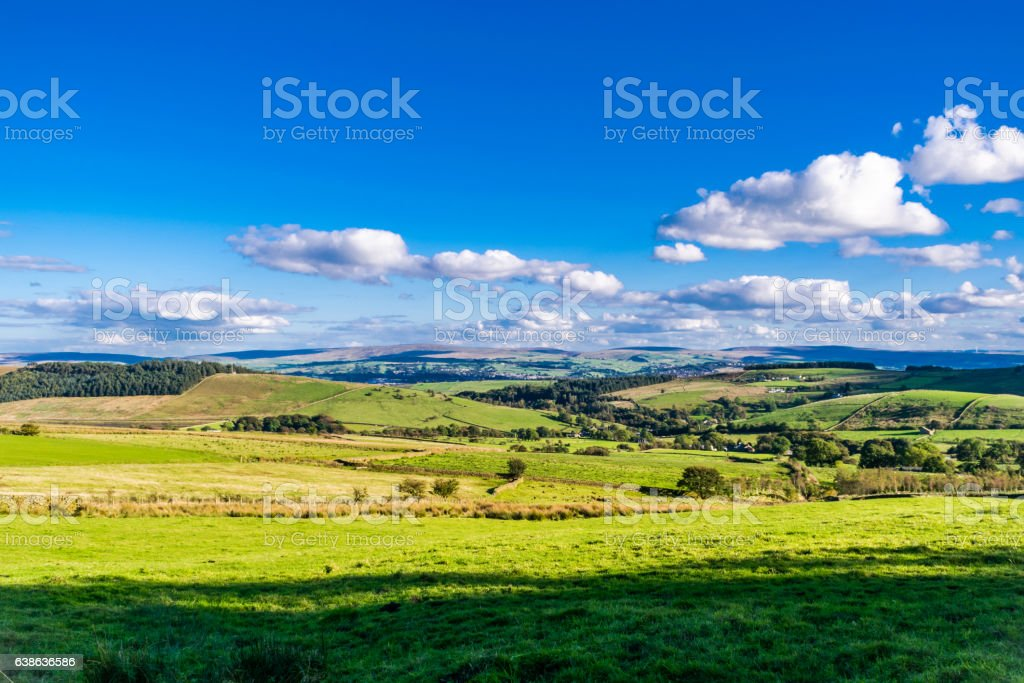 Scenic View At Lancashire Farms stock photo