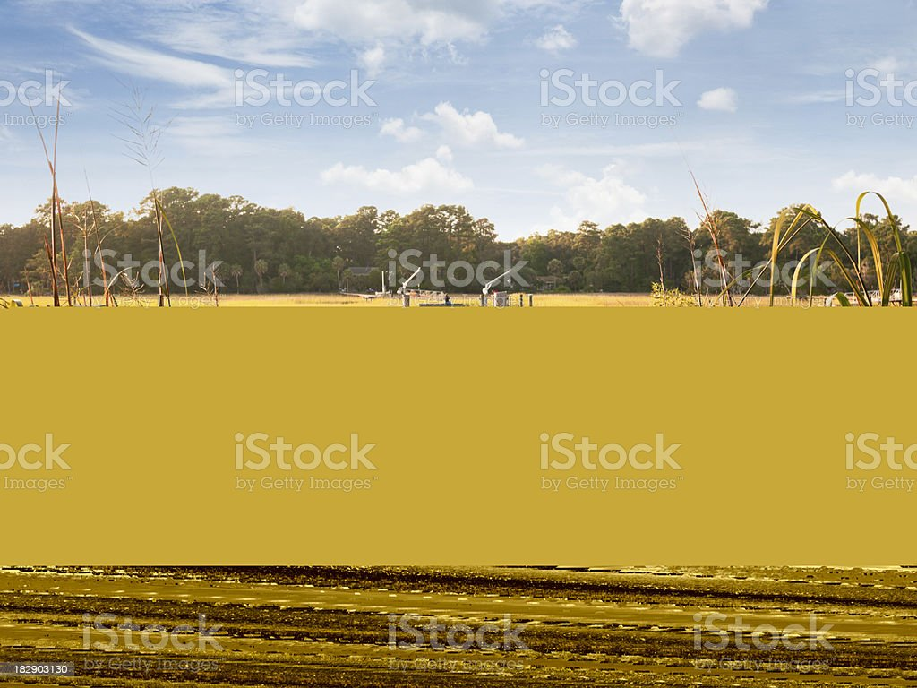 A scenic view from a bedroom window  royalty-free stock photo