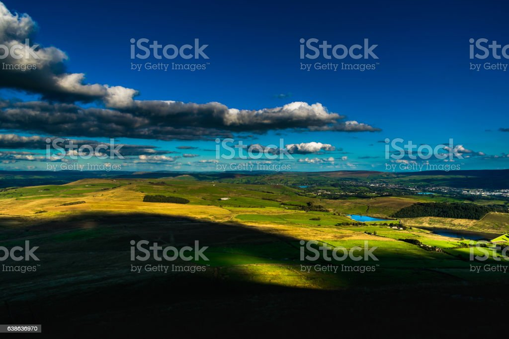 Scenic View From Pendle Hill stock photo
