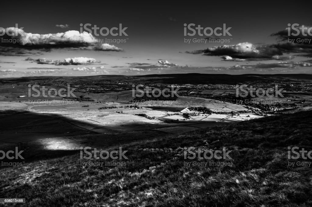 Scenic View From Pendle Hill, South stock photo