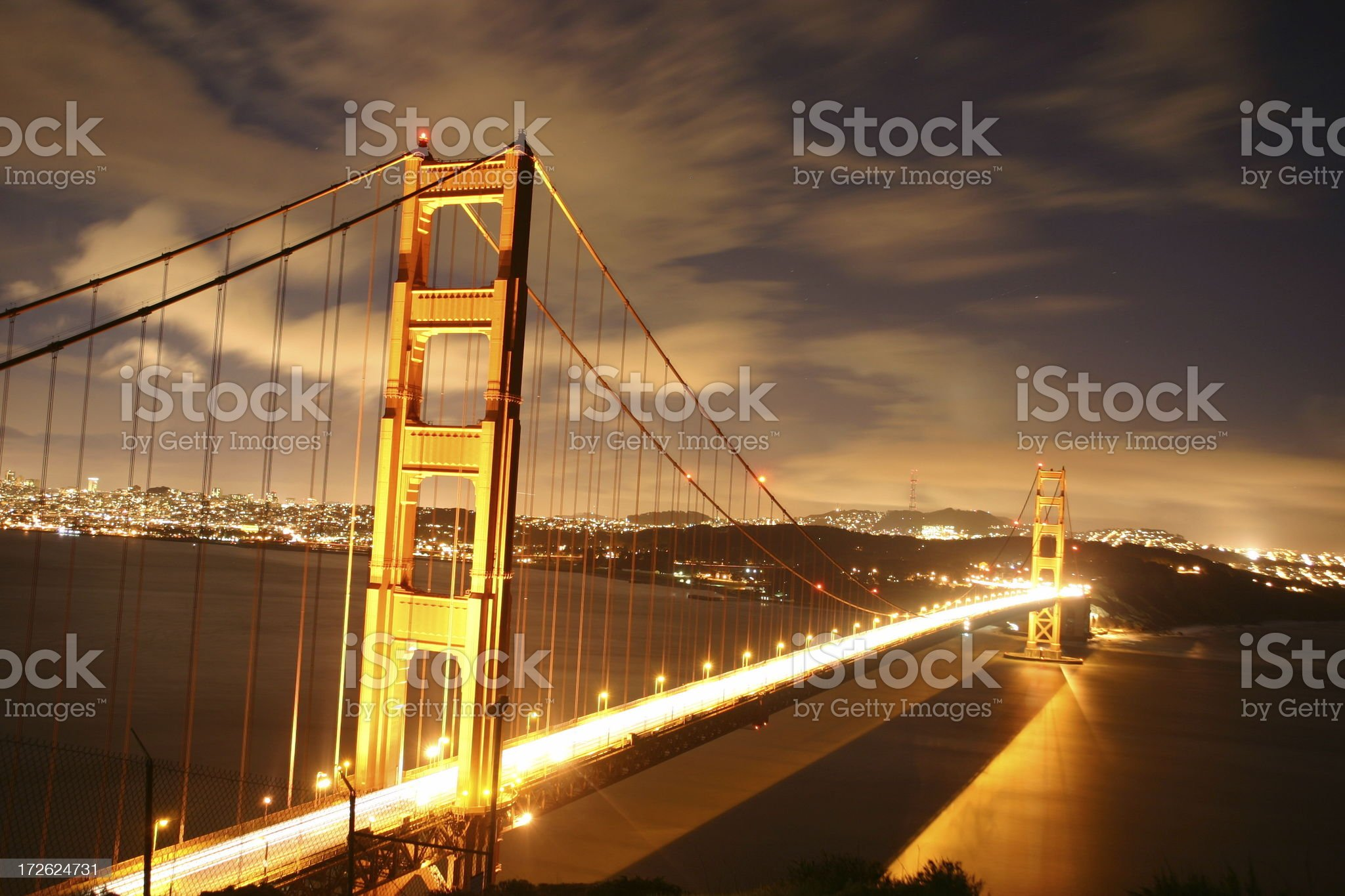Scenic view Golden Gate Bridge (San Francisco, USA) at dawn royalty-free stock photo
