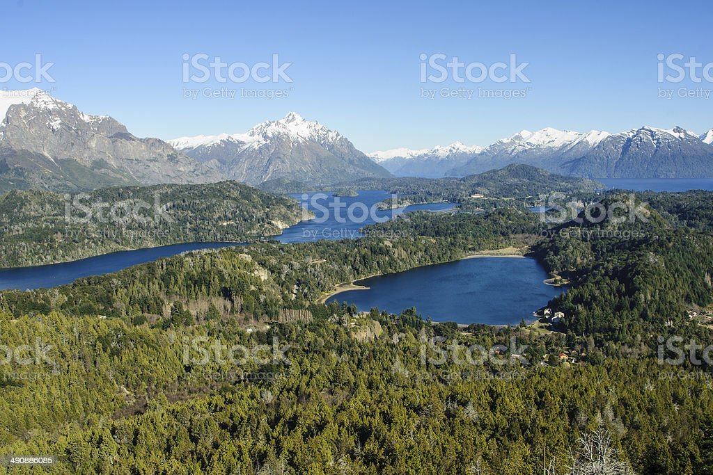 Scenic View in Patagonia stock photo