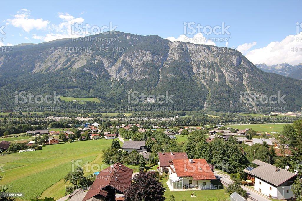 Scenic View Inntal close Schwaz, Tirol during summer season. royalty-free stock photo
