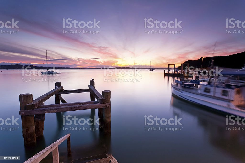 A scenic view of a Russell Sunset stock photo