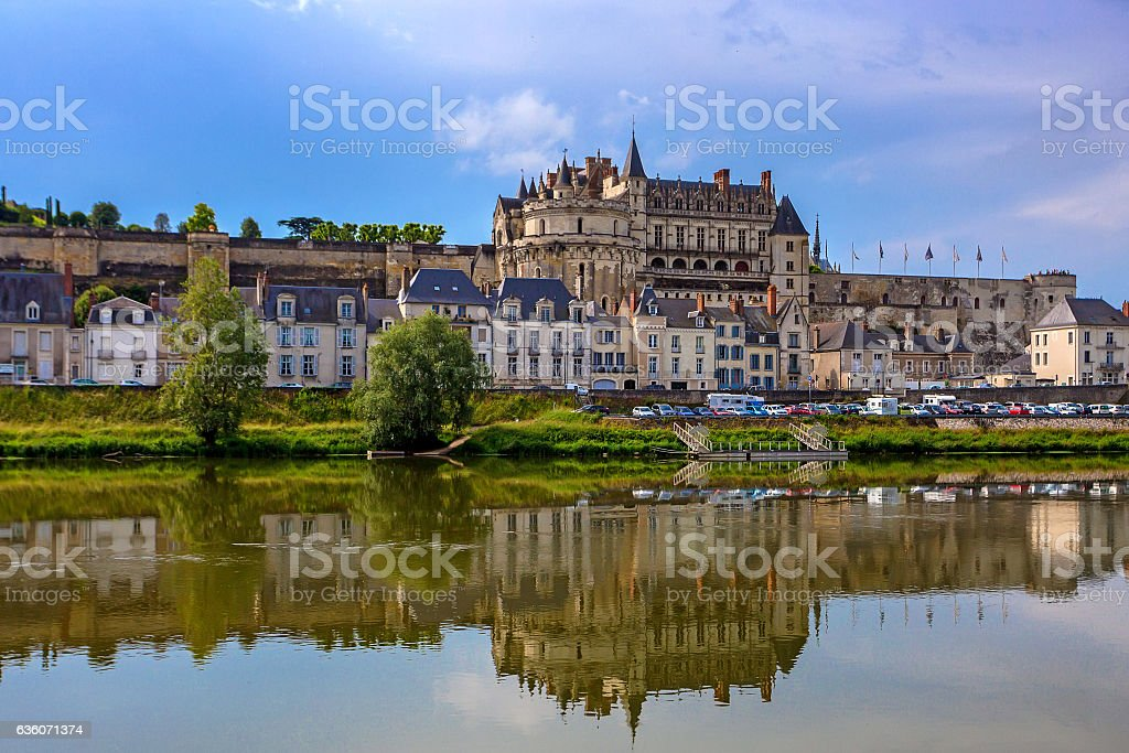Scenic view of Amboise castle stock photo