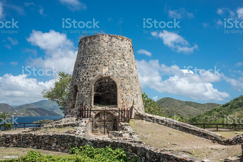 Scenic View of an Old Windmill stock photo