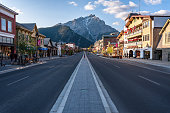 scenic view of Banff townsite