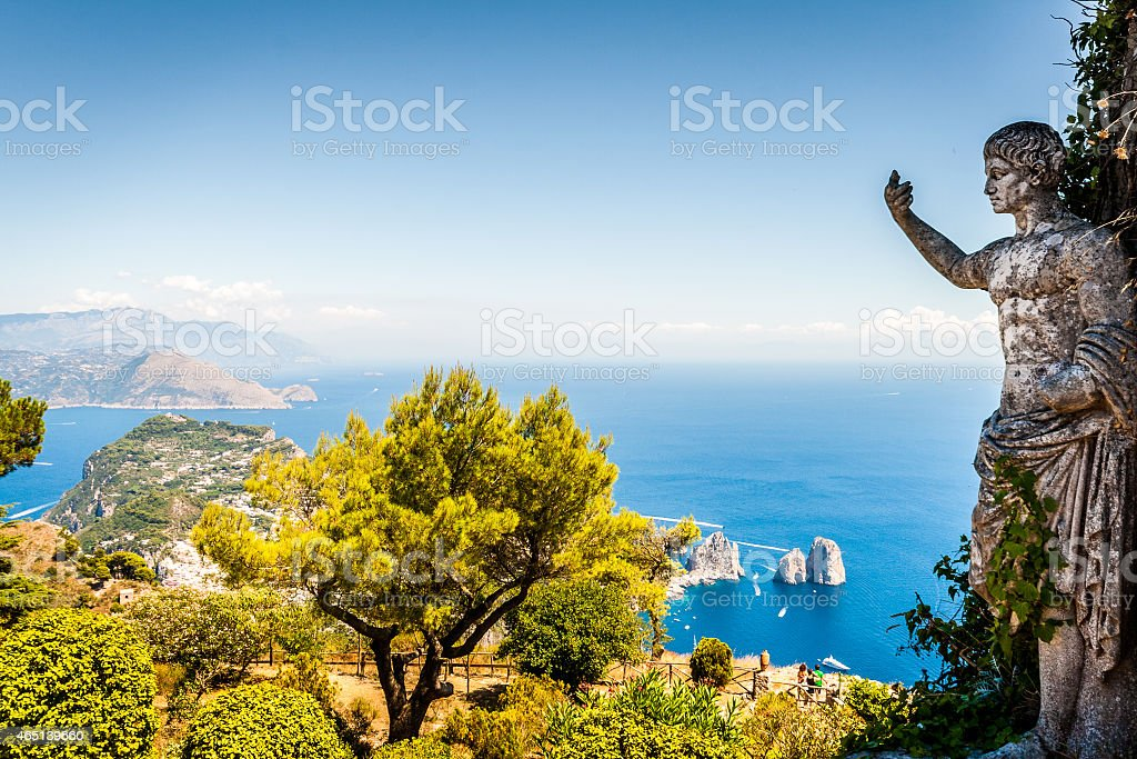 Scenic view of Capri, Naples, Italy stock photo