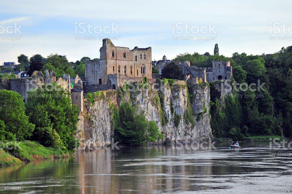 Scenic view of Chepstow Castle stock photo