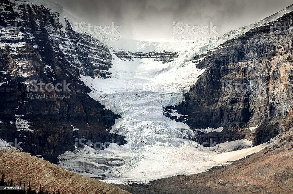 Scenic view of Columbia Icefield glacier in Jasper NP, Canada stock photo