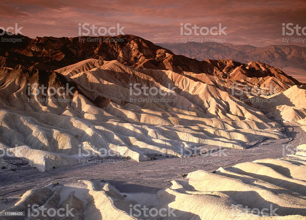 Scenic view of Desert Hills of Death Valley stock photo
