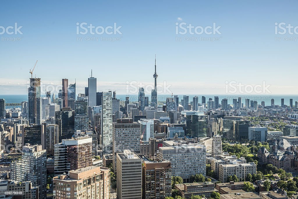 Scenic view of downtown Toronto stock photo