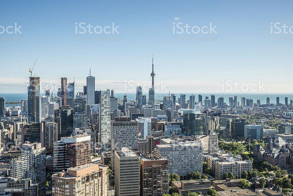 Scenic view of downtown Toronto stock photo