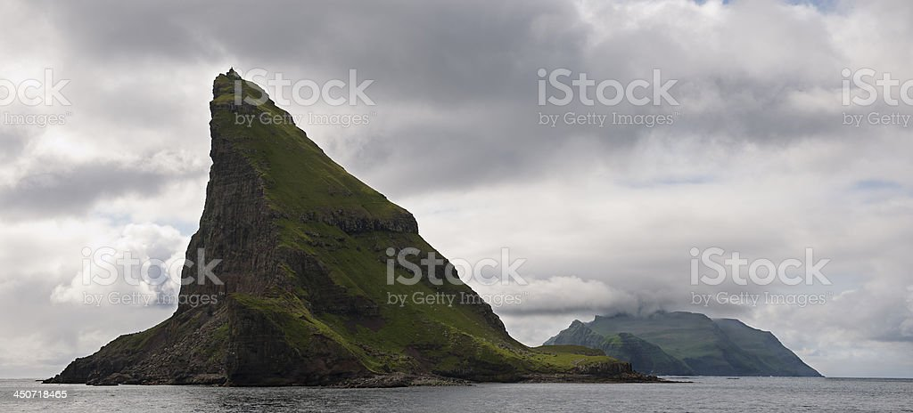Scenic view of Faroe Islands stock photo