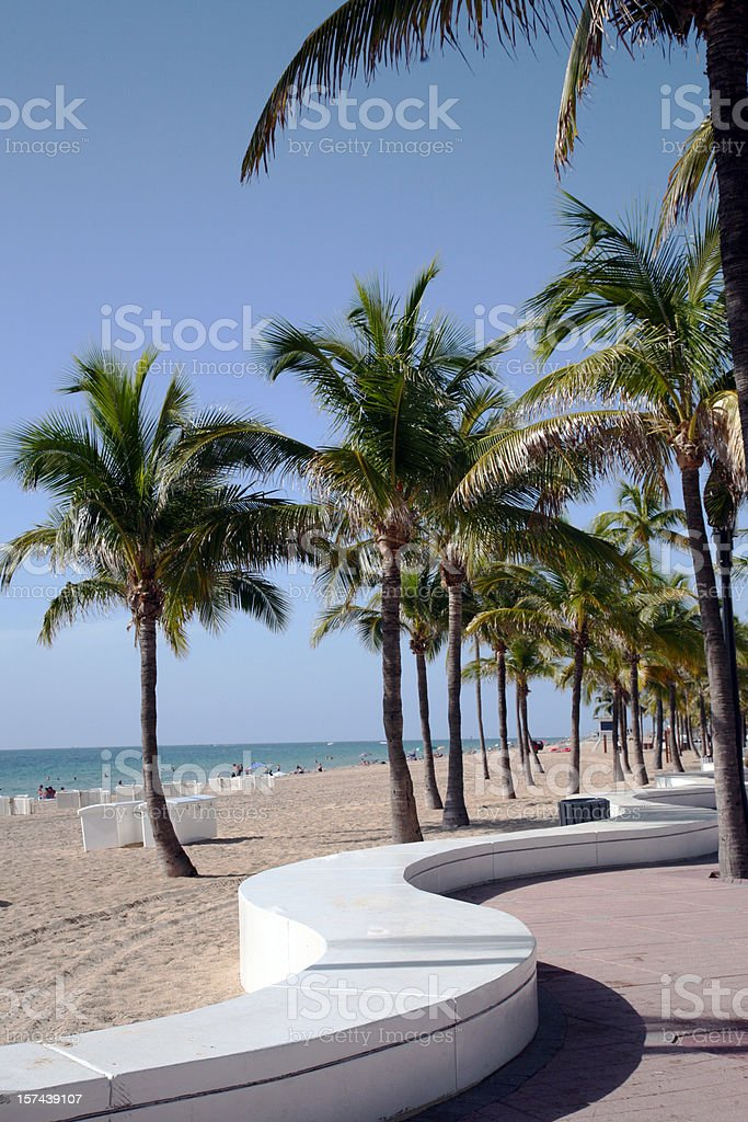 Scenic View Of Ft. Lauderdale Beach royalty-free stock photo