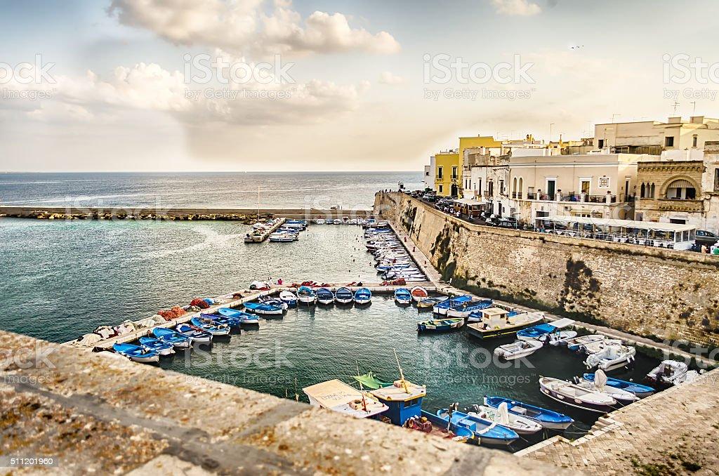 Scenic view of Gallipoli, Salento, Italy stock photo