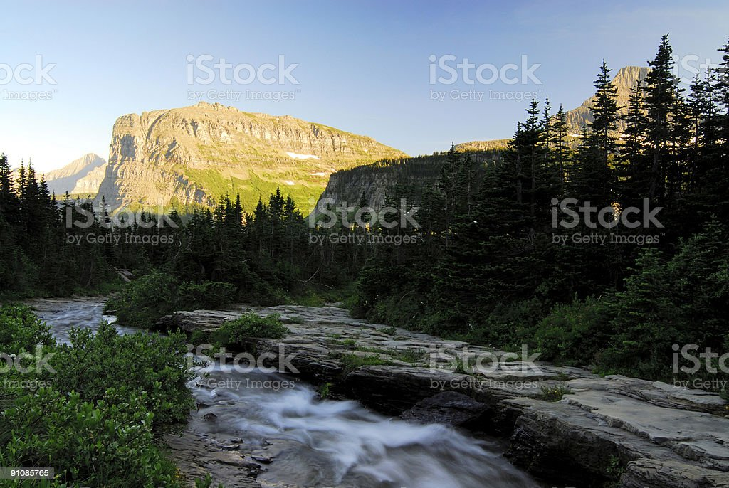 Scenic View of Glacier National Park royalty-free stock photo
