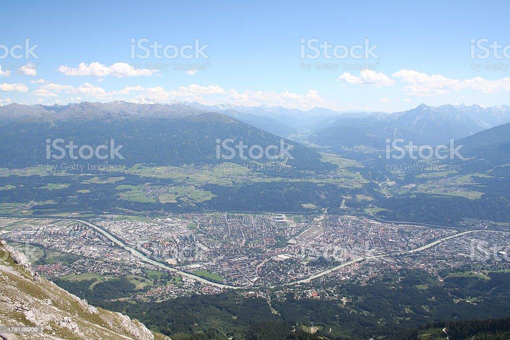 Scenic View of Innsbruck, Tyrol, Austria - Alps royalty-free stock photo