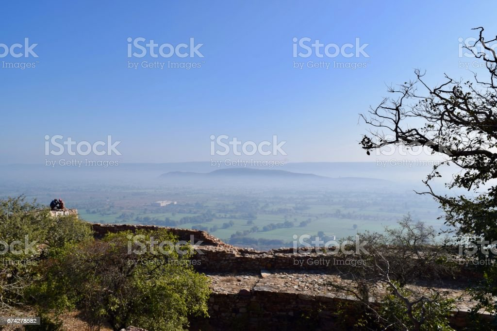 scenic view of landscape at chittaurgarh fort stock photo