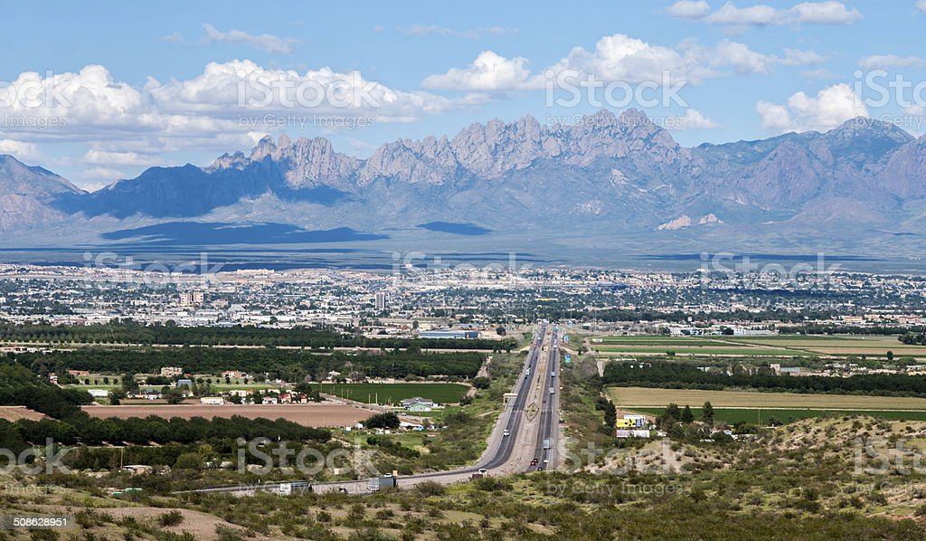 Scenic View of Las Cruces, New Mexico stock photo