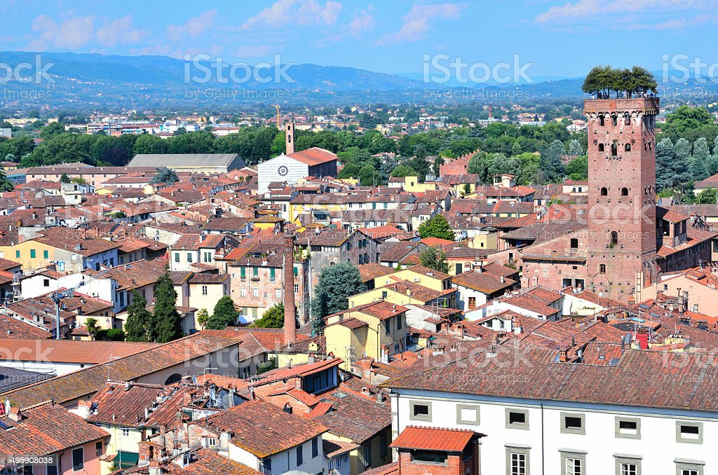 Scenic view of Lucca stock photo