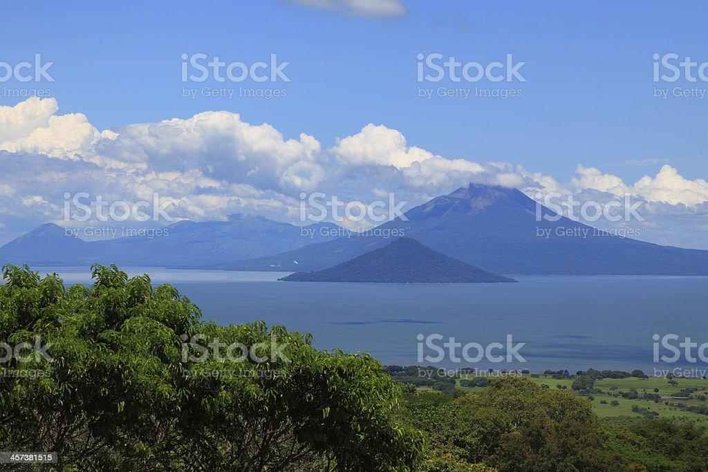 A scenic view of Momotombo Volcano stock photo