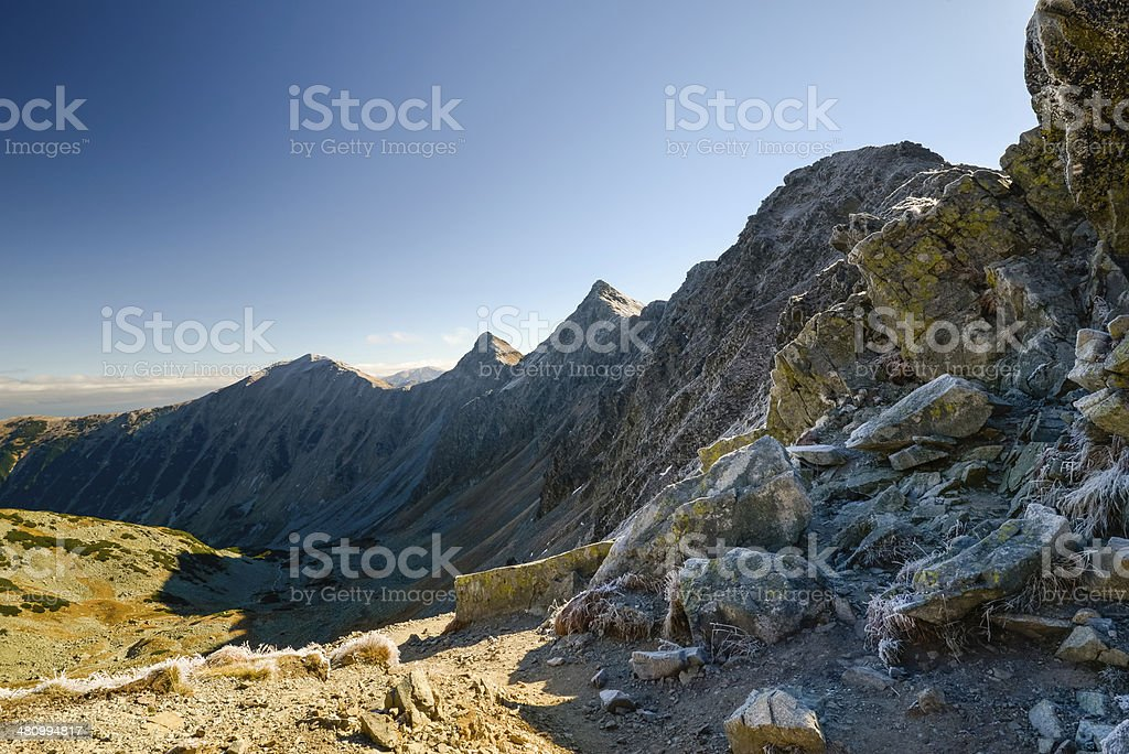 Scenic view of mountains ridge. Tatras Slovakia, Europe. royalty-free stock photo