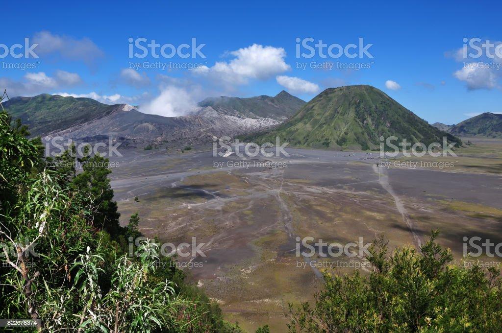 Scenic view of Mt Bromo stock photo