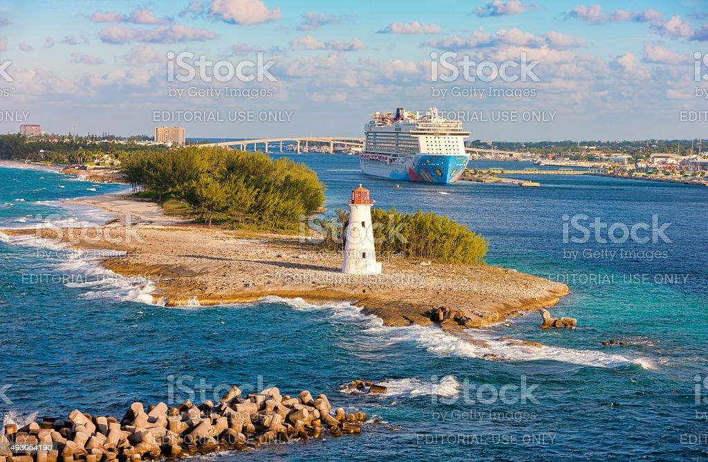 Scenic view of Nassau, Bahamas. stock photo
