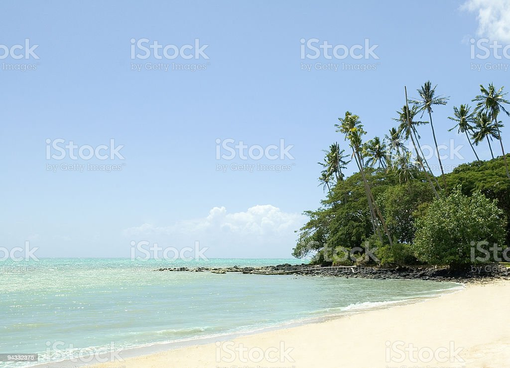 A scenic view of Pacific Island Beach stock photo