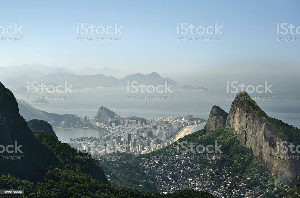Scenic view of Rio de Janeiro from a mountain royalty-free stock photo